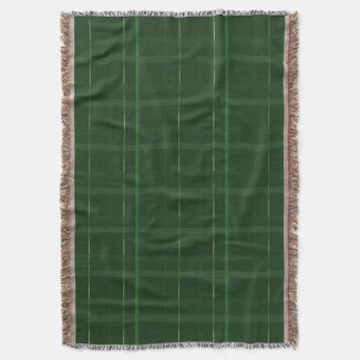 Forest Green  Window Pane Check Throw Blanket