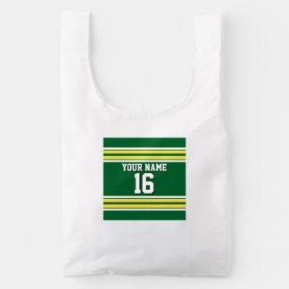 Forest Green with Yellow White Stripes Team Jersey Reusable Bag
