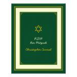 Forest Green y tarjeta de la respuesta de Mitzvah