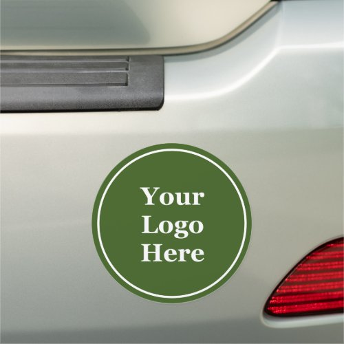 Forest Green Your Logo Here Car Magnet