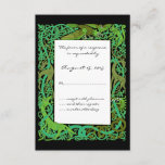 Forest Greens Celtic Animals Design Wedding RSVP