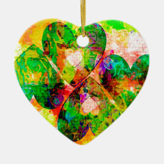 Forest Hearts Ceramic Ornament