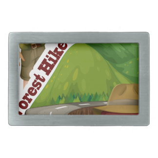 Forest hike and camp ground belt buckle
