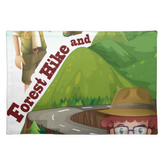 Forest hike and camp ground cloth placemat
