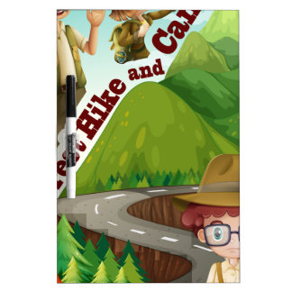 Forest hike and camp ground dry erase board
