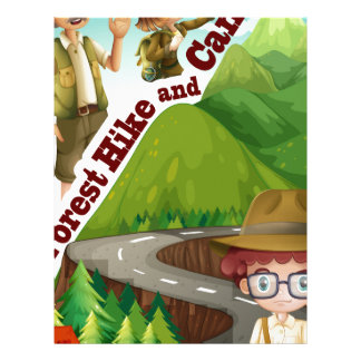 Forest hike and camp ground letterhead