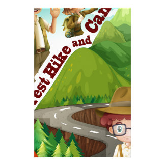 Forest hike and camp ground stationery