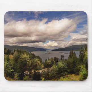 Forest hill and river mouse pad