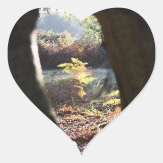 Forest Hollow Heart Sticker
