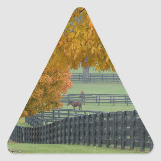 Forest Horsefarm Countryside Triangle Sticker