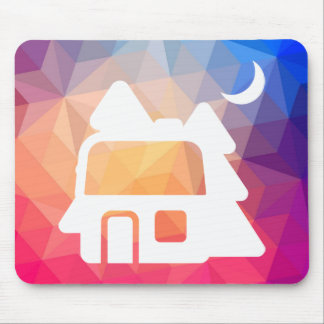 Forest Houses Graphic Mouse Pad