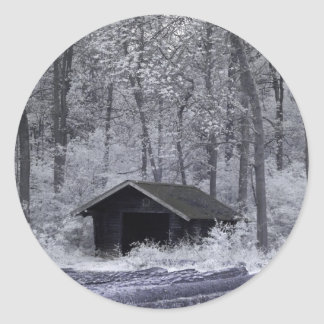 Forest Hut Classic Round Sticker