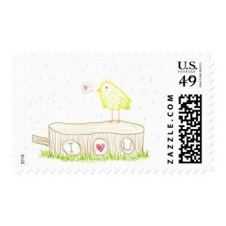 Forest I love you doodle Postage Stamp