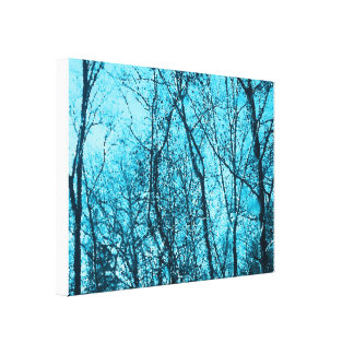 Forest In Azure Canvas Print