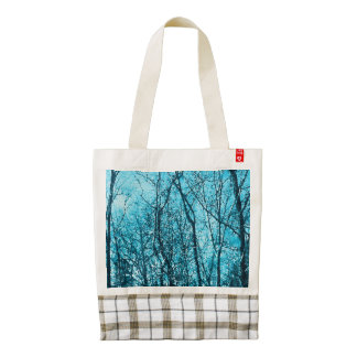 Forest In Azure Zazzle HEART Tote Bag