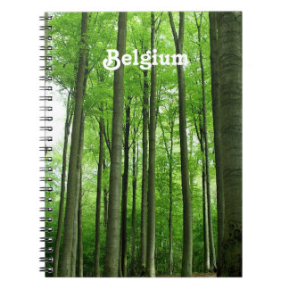 Forest in Belgium Spiral Note Books