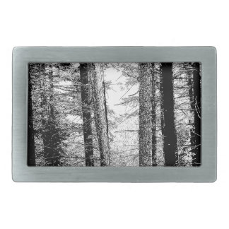 Forest in Black and White Belt Buckle