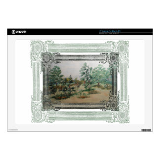 Forest in its sleep laptop skin