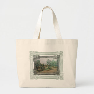 Forest in its sleep large tote bag