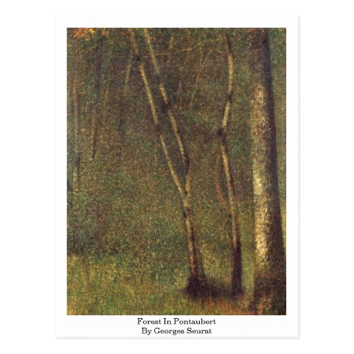 Forest In Pontaubert By Georges Seurat Postcard