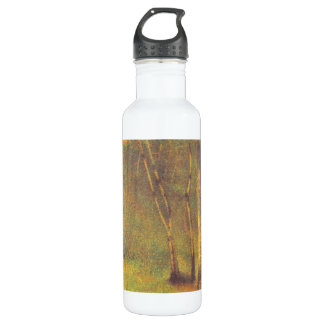 Forest in Pontaubert by Georges Seurat Water Bottle