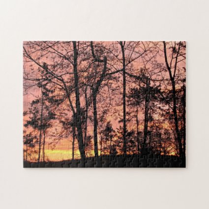 Forest in Sunset Scenic Nature Puzzle