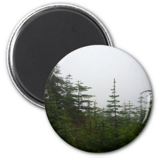 Forest in the Mist 2 Inch Round Magnet