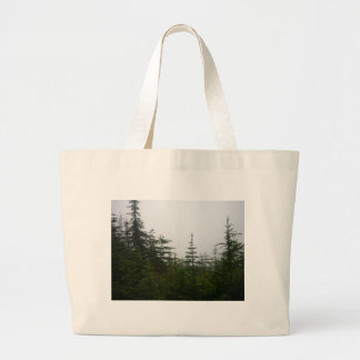 Forest in the Mist Jumbo Tote Bag