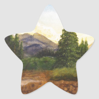 forest in the mountains stickers