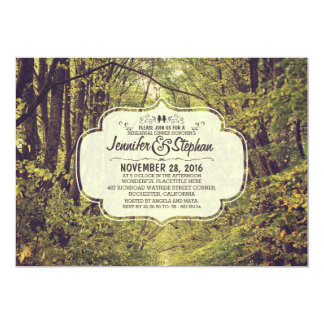 forest inspired tree avenue rehearsal dinner 5x7 paper invitation card