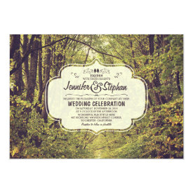 forest inspired tree avenue wedding invitations 5