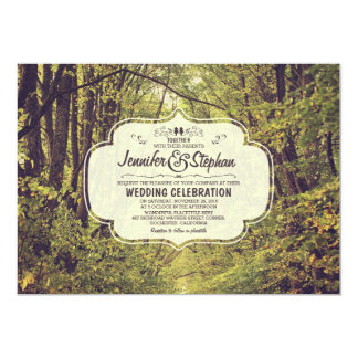 forest inspired tree avenue wedding invitations