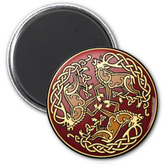 Forest King 2 Inch Round Magnet