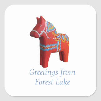 Forest Lake Dala Horse Sticker
