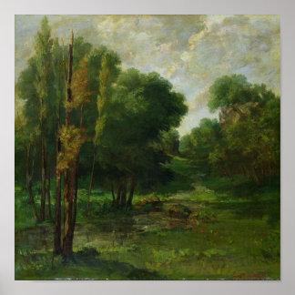 Forest Landscape, 1864 Poster