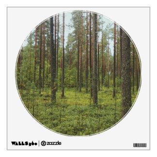 Forest Landscape Circle Window Wall Decal