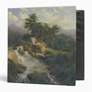 Forest Landscape with Waterfall Binder