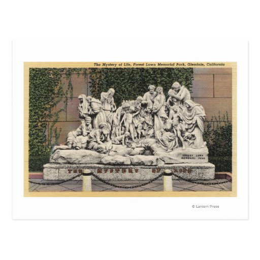 Forest Lawn Memorial Park, Mystery of Life Postcard