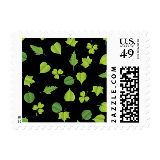 "Forest Leaves ""change background"" Postage Stamp"