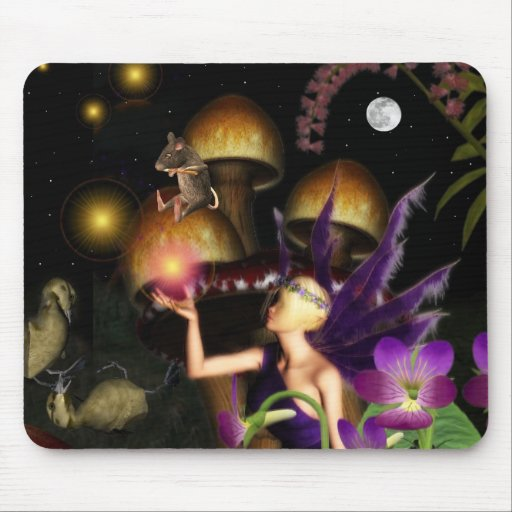 Forest lights fairy mousepad