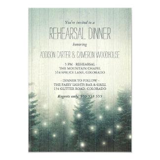 Forest Lights | Rustic Rehearsal Dinner Invitation
