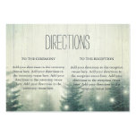 Forest Lights | Rustic Wedding Directions Large Business Card