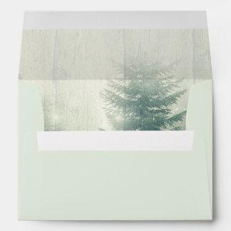 Forest Lights   Rustic Wedding Envelopes