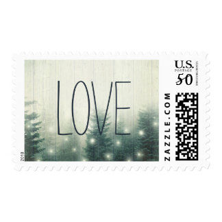 Forest Lights | Rustic Wedding Love Postage