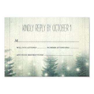 Forest Lights | Rustic Wedding | RSVP Invitation