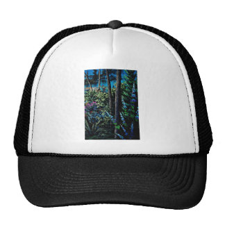 Forest magic flowers mesh hats