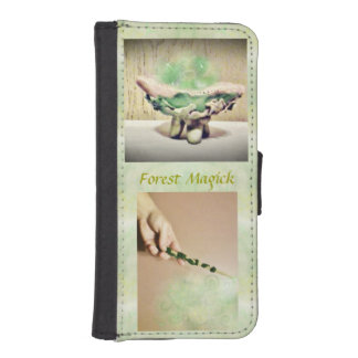 Forest Magick Nature Witch Elvin Light Bkg. Wallet Phone Case For iPhone SE/5/5s