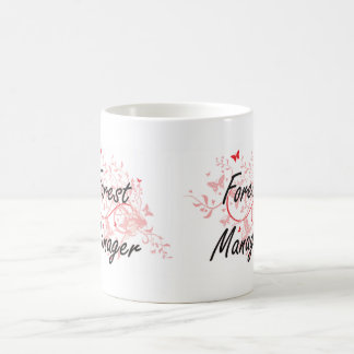 Forest Manager Artistic Job Design with Butterflie Coffee Mug