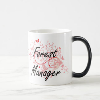Forest Manager Artistic Job Design with Butterflie Magic Mug