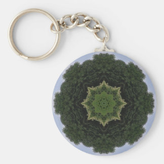 Forest Mandala Key Chains